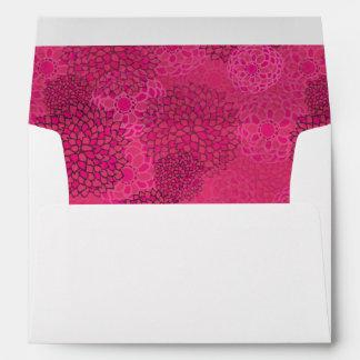Modern Trends Floral Wedding Self-Addressed Envelope