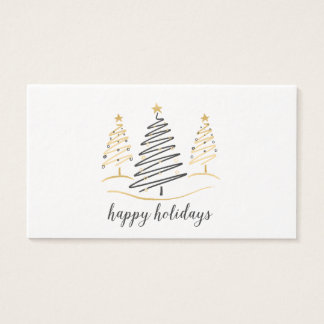 Modern Trends Holiday Trees Business Card