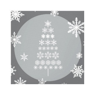 modern trends snowflake tree canvas print