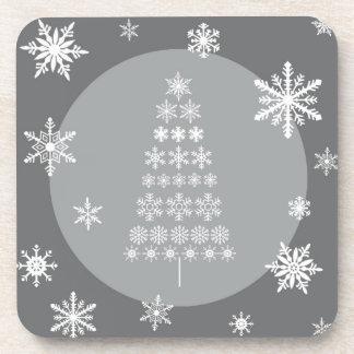 modern trends snowflake tree coaster