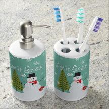 snowman bathroom sets.  Snowman Bath Accessory Sets Zazzle