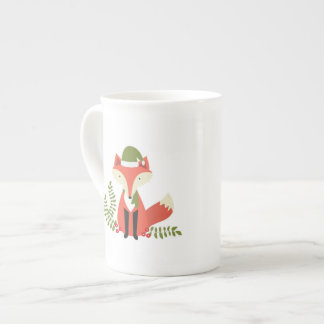 modern trends woodland christmas fox tea cup