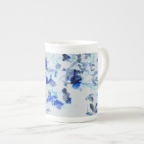 Modern, trendy art of floral / flower pattern tea cup