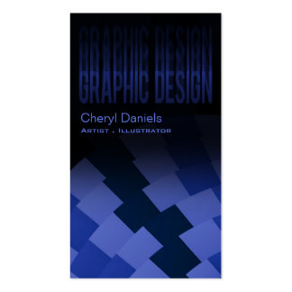 Modern Trendy Artistic Graphic Designer indigo Business Card Templates