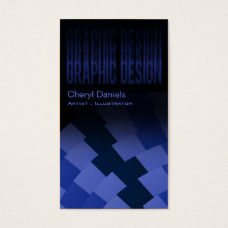 Modern Trendy Artistic Graphic Designer indigo Business Card