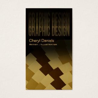 Modern Trendy Artistic Graphic Designer ochre Business Card