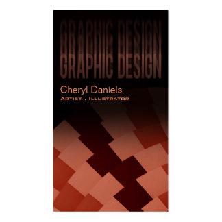 Modern Trendy Artistic Graphic Designer rust peach Business Card