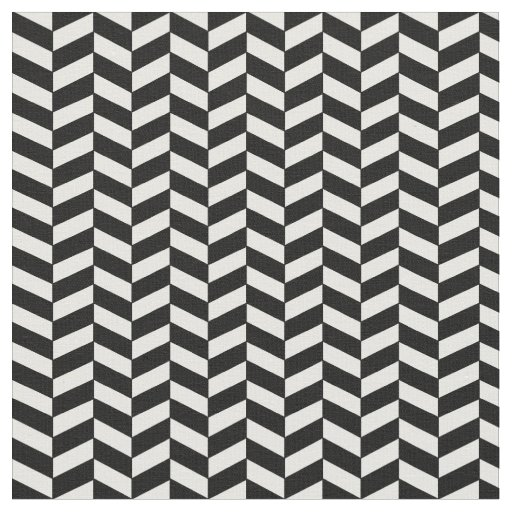 Modern trendy black and white herringbone pattern fabric for Modern patterns black and white