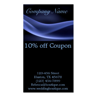 modern trendy blue black abstract business Double-Sided standard business cards (Pack of 100)