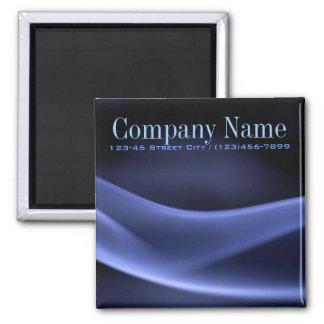 modern trendy blue black abstract business fridge magnet