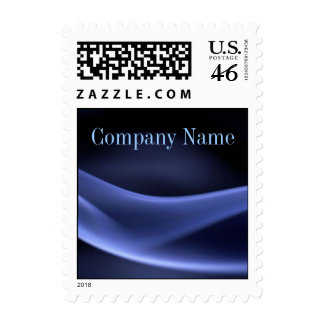 modern trendy blue black abstract business postage