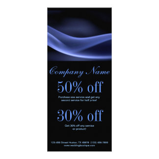 modern trendy blue black abstract business customized rack card