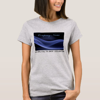 modern trendy blue black abstract business T-Shirt