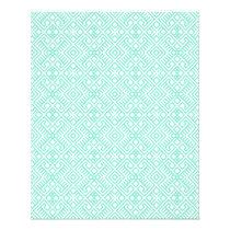 Modern Trendy Blue White Geometric Pattern Flyer