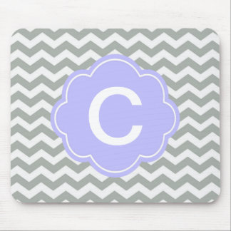 Modern, trendy, classic grey and white chevron mouse pads