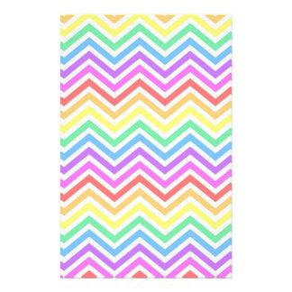 modern, trendy colorful rainbow chevron zigzag stationery