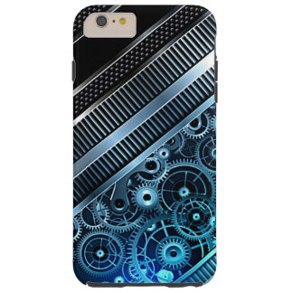 Modern Trendy Cool Retro Industrial Gears Pattern Tough iPhone 6 Plus Case