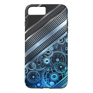 Modern Trendy Cool Retro Industrial Gears Pattern iPhone 7 Plus Case