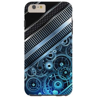 Modern Trendy Cool Retro Industrial Gears Pattern Tough iPhone 6 Plus Case
