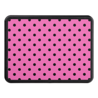 modern, trendy, cute pink and black polka dots. hitch cover