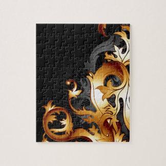 Modern trendy decorative abstract art jigsaw puzzles