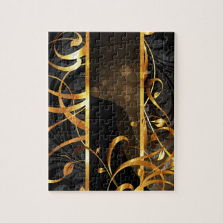 Modern trendy decorative abstract art puzzles