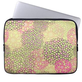 Modern Trendy Floral Pattern Computer Sleeves