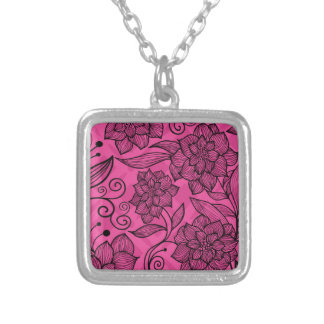 Modern Trendy Floral Pattern Silver Plated Necklace