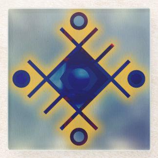 modern,trendy,fractal,symbolist,art,polygamel,chic glass coaster