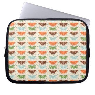 Modern Trendy Lemon Pattern Laptop Sleeves