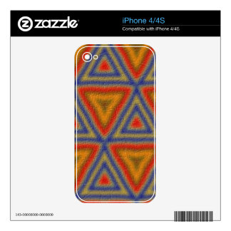 Modern trendy pattern iPhone 4S decal