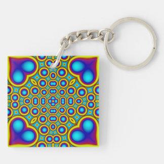 Modern trendy pattern keychain