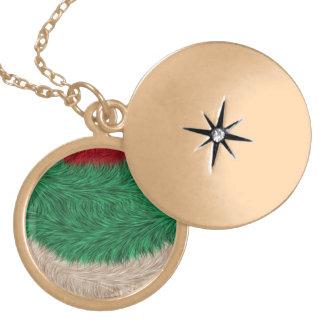 Modern trendy pattern round locket necklace