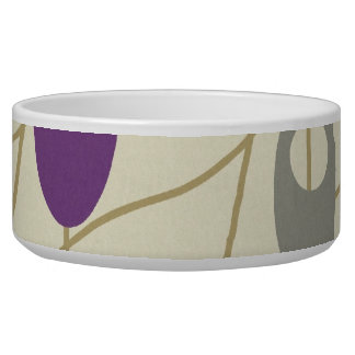 Modern Trendy Purple and Gray Beads Ovals Bowl
