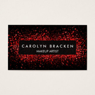 Modern Trendy Red Burst Of Colors Business Card