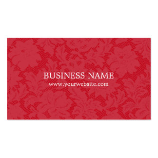 Modern Trendy Red Lace Fashion Consultant Double-Sided Standard Business Cards (Pack Of 100)