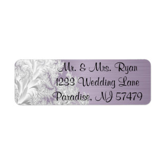 Modern Trendy Wedding in a Amethyst Purple Label
