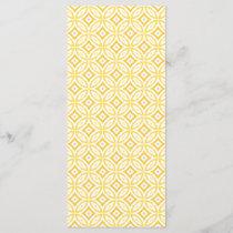 Modern Trendy Yellow Circle Geometric Pattern