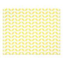 Modern Trendy Yellow Leaves Pattern Flyer