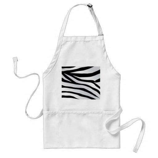 Modern Trendy Zebra Stripes Pattern Adult Apron