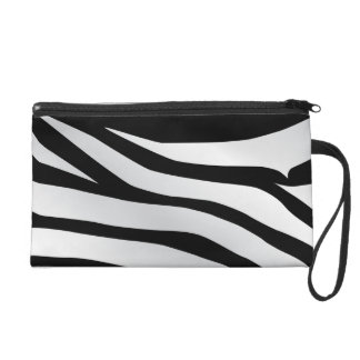 Modern Trendy Zebra Stripes Pattern Wristlet Clutch