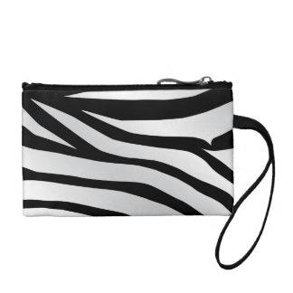 Modern Trendy Zebra Stripes Pattern Change Purse