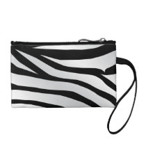 Modern Trendy Zebra Stripes Pattern Coin Wallet