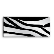 Modern Trendy Zebra Stripes Pattern Envelope