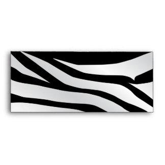 Modern Trendy Zebra Stripes Pattern Envelope
