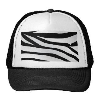Modern Trendy Zebra Stripes Pattern Mesh Hat