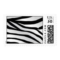 Modern Trendy Zebra Stripes Pattern Postage