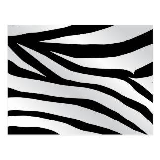 Modern Trendy Zebra Stripes Pattern Postcard