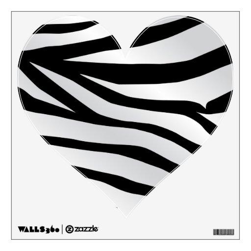 Modern Trendy Zebra Stripes Pattern Wall Decal