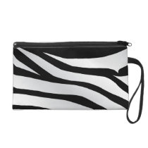 Modern Trendy Zebra Stripes Pattern Wristlet